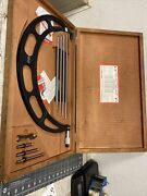 Starrett 224 300-400mm Od Micrometer W/etchings And Blue Paint In Case. Qq259