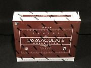 1 - New Factory Sealed 2016 Panini Immaculate Hobby Football Box Please Read