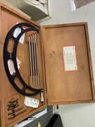 Starrett 224 300-400mm Od Micrometer W/etchings And Blue Paint In Case. Qq271