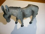 Vintage Italy Nativity Standing Donkey Stamped Italy