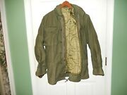 Military Army Cold Weather Coat Jacket W/liner Hood Nato Size Small 7080/8494
