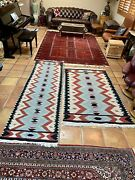 A Pair 2 Vintage Turkish Kilim Carpet Area/runner Rugs Large Teppich Persian