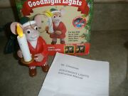 Mr. Christmas Goodnight Lights Blow Out Santa's Candle Turn On And Off Tree Lights