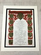 British Royal Family Tree Genealogy Chart King Queens Of England Antique Print