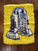 Rare Star Wars Vintage R2-d2 Leewards Latch Hook Rug 20x26andrdquo 1980and039s