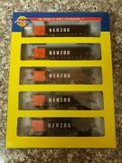 N Scale Athearn 11704 Herzog 50 And039 Thrall High - Side Coal Gondola 5 Pack Mow Hzg
