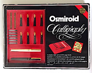 Osmiroid Calligraphy Kit Unused 8 Stainless Steel Nibs Plated W/ 22 Carat Gold