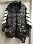 Pony Product Of New York City Wings Puffer Jacket Coat With Hood Size Xl Nwt