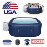 Bestway 60022e Bubble Jet 6 Person Inflatable Round Hot Tub Spa + Pump + Cover