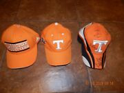 Lot Of 3 Tennessee Vols Hats And 3 New Tennessee Vols Car Flags Hat Autographed