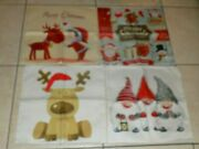 Christmas Holiday Pillow Covers Set Of 4 - 18 X 18-nip-mult-colors
