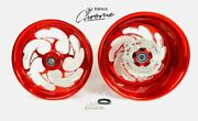 Stock Size Candy Red Contrast Shredder Wheels 2009-2014 Yamaha Yzf R1