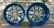 Yamaha R1 Candy Blue Stock Size Recluse Wheel Package For 2009-2014 Yamaha R1