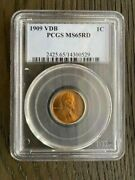1909 Vdb Lincoln Wheat Cent Penny Pcgs Ms65rd Certified - Philadelphia