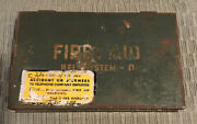 Vintage Bell System D First Aid Kit Metal Box Original Contents Telephone Co.