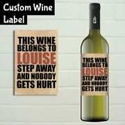 Personalised Funny Wine Bottle Label - Any Name - Vintage Shabby Chic Retro