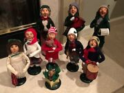 Vintage Byers Choice Ltd. The Carolers 1980s Lot Of 9