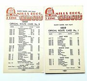 1959 2 Mills Brothers 3 Ring Circus  Official Route Cards 1 And 8