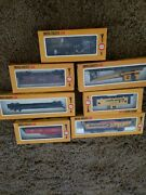 Cox Ho Scale Vintage Electric Trains 6 Trains And Box Of Signs