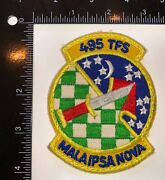 Usaf Us Air Force 495th Tactical Fighter Squadron Patch
