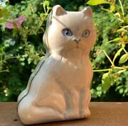 Cat Tin Metal Trinket Boxes Blue Eyes Kitty Cat Change Container Jewelry Holder