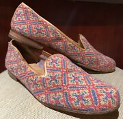 Stubbs And Wootton Palm Beach Needlepoint Loafer Slip On Womens Size 9.5 Us