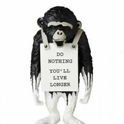 Banksy Medicom Toy Monkey Sign Drip Ver. Statue Object Exhibition Doll