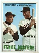 1967 Topps 423 Fence Busters Willie Mays Willie Mccovey Dp - Ex-mt