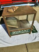 Antique Country Store Lighted Coffee Bean Dispenser Frankford Pa. Bosant Coffee