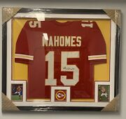 Patrick Mahomes Autographed And Framed Red Chiefs Jersey Auto Beckett - Hot