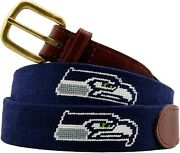 Smathers And Branson Belt Size 38 Seattle Seahawks New With Tags Needlepoint