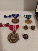 Us Army Medal Awards For Civilian Service/achivement With Pins And Ribbons Lot