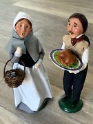 Lot Of 2 Byers Choice Male And Female Thanksgiving Figurines