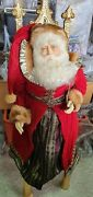 Same Factory Of Vintage Katherine's Collection Red Santa Doll