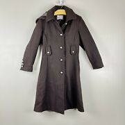 Rothschild Girls A-line Military Long Winter Dress Coat Size 7 Brown Hooded