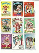 9 Different 1986-87 Garbage Pale Kids Cards 1