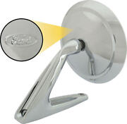 Macs Auto Parts Outside Rear-view Mirror Assembly - Round Head - Manual Control