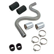 Macs Auto Parts Magna-kool Stainless Steel Hose Kit 24 With Chrome Ends
