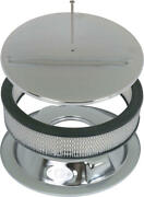 Macs Auto Parts Chrome Smooth Round Engine Air Cleaner 41-74169-1