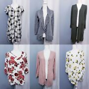 Lot Of 6 Torrid Tops And Cardigans Size 00