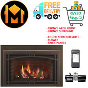 Majestic Ruby 25 Insert Fireplace Package Sale Brick Kit Bronze Arch And Surround