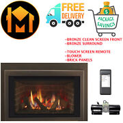 Majestic Ruby 25 Insert Fireplace Package Sale Bronze Front And Surround W Panels