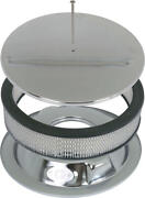 Macs Auto Parts Chrome Smooth Round Engine Air Cleaner 90-74169-1