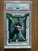 2012 Topps Strata 29 Russell Wilson Hold Ball With Two Hands Rc Rookie Psa 9