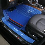 Car Floor Mats Artificial Leather Durable Synthetic Fiber Stripe Carpets Tool