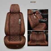 Car Seat Covers Leather Water Proof Headrests Front Back Cushion Mat Equipment