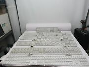 Lot Of 11 Apple Mb110ll/b A1243 Wired Keyboard - Silver/white