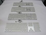 Lot Of 4 Apple A1243 Mb110ll/a Aluminum Wired Usb Keyboard