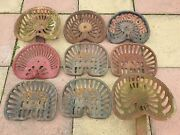 Collection Of Vintage/antique Cast Iron Agricultural Tractor Implement Seats