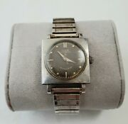 Vintage Watch 1950 Elgin Automatic Self-winding Shockmaster For Parts Or Fixed